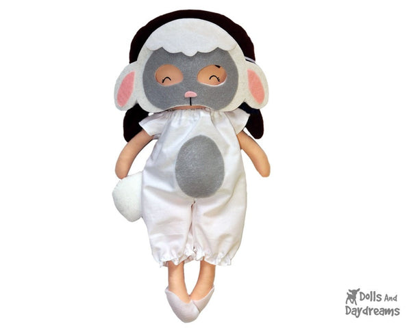 Lamb Mask & Tail Pattern - Dolls And Daydreams - 1