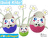 In The Hoop Quick Kids Lamb Hatchling Easter Egg Stuffie ITH machine embroidery Pattern Plush Toy by Dolls And Daydreams