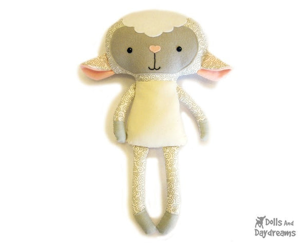 Lamb Sewing Pattern - Dolls And Daydreams - 1