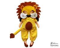 Lion Mask & Tail Pattern - Dolls And Daydreams - 1