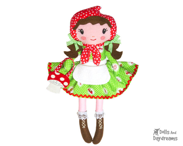 Little Red Riding Hood Cloth Doll PDF Sewing Pattern by Dolls And Daydreams  DIY fairy tale fairytale