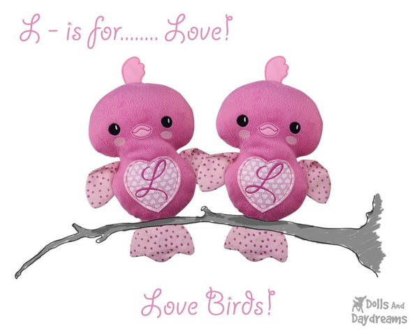 Embroidery Machine Chick Love Bird Pattern - Dolls And Daydreams - 4