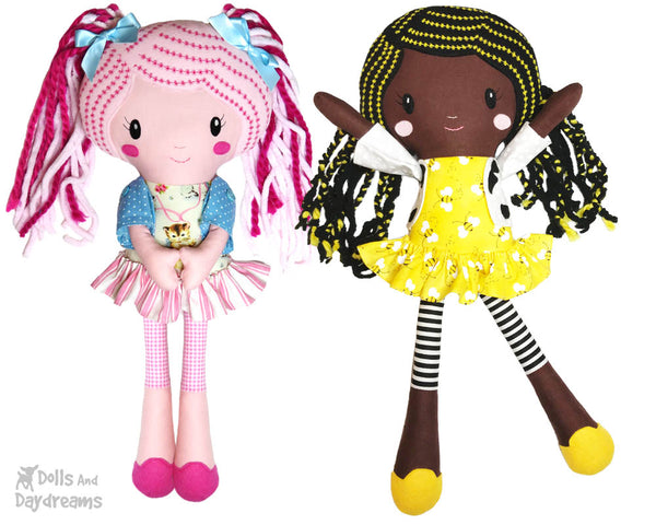 Lucy Leggings a PDF Doll Sewing Pattern ethnic black girl natural hair by dolls and daydreams