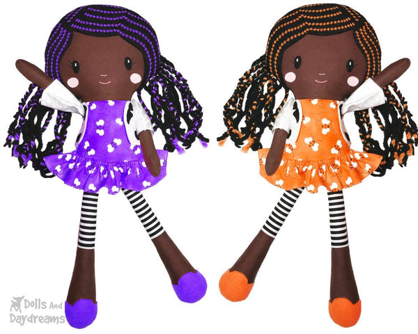 Lucy Leggings a PDF Doll Sewing Pattern African american black girl natural hair by dolls and daydreams
