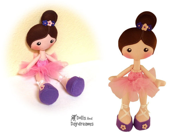 LuLu Ballerina Doll Sewing Pattern - Dolls And Daydreams - 2