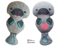 Manatee Sewing Pattern - Dolls And Daydreams - 1