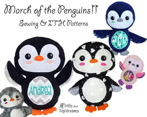 Embroidery Machine Penguin Pattern - Dolls And Daydreams - 4