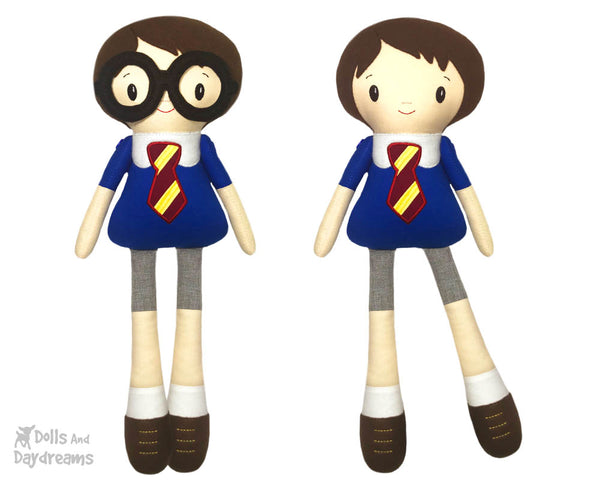 Master Tippy Toes Harry Potter Fan Art Doll ITH Machine Embroidery Pattern - Dolls And Daydreams - 1