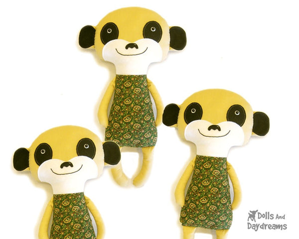 Meerkat Sewing Pattern - Dolls And Daydreams - 1