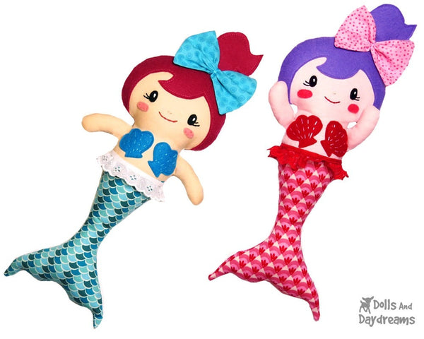 Merbabies Sewing Pattern - Dolls And Daydreams - 1