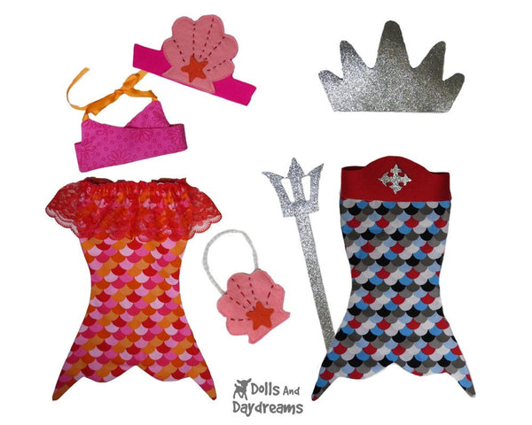 Mermaid Tail Sets Sewing Pattern - Dolls And Daydreams - 2