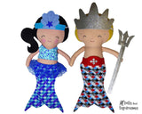 Mermaid Tail Sets Sewing Pattern - Dolls And Daydreams - 1