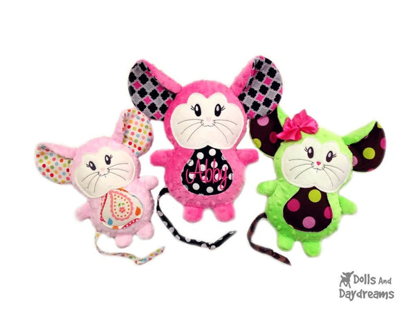 Embroidery Machine Mouse Pattern - Dolls And Daydreams - 3
