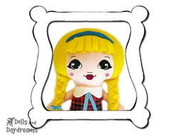 Hand Embroidery Or Painting Mini Manga Doll Face Pattern