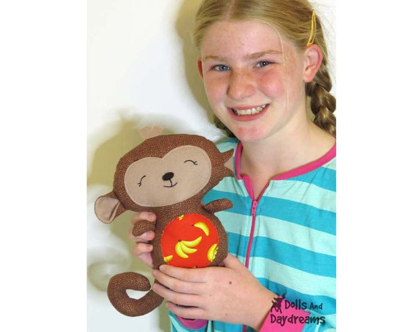 Baby Monkey Sewing Pattern - Dolls And Daydreams - 4