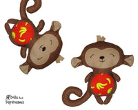 Baby Monkey Sewing Pattern - Dolls And Daydreams - 1