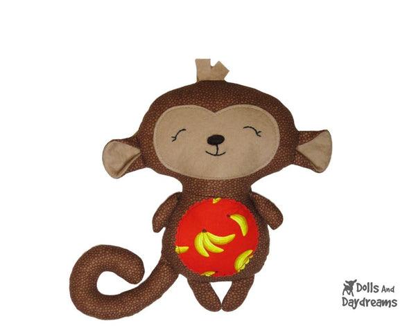 Baby Monkey Sewing Pattern - Dolls And Daydreams - 3