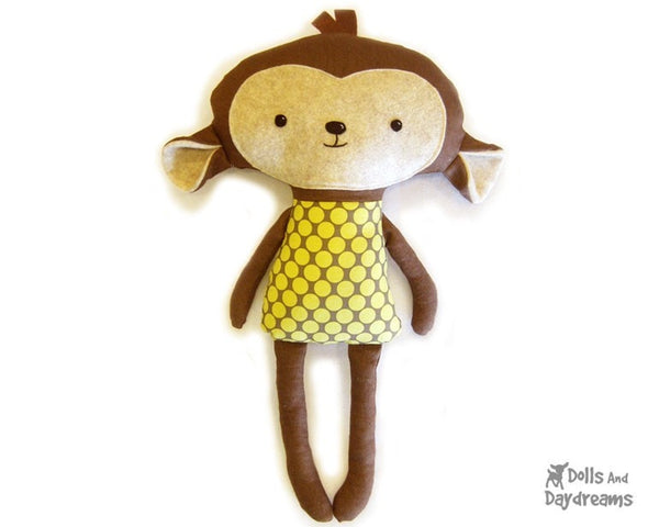 Monkey Sewing Pattern - Dolls And Daydreams - 1