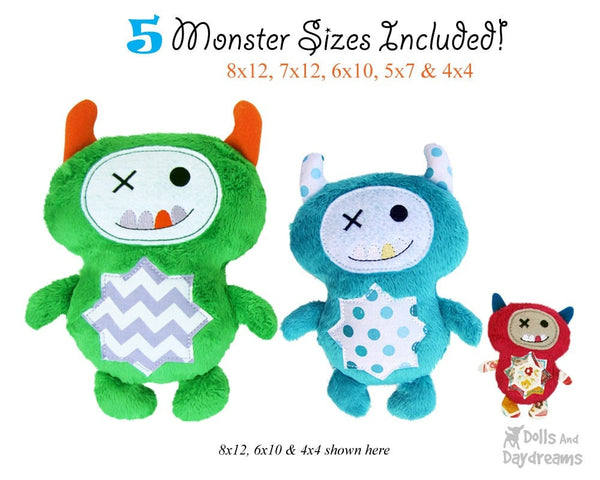 Embroidery Machine Monster ITH Pattern - Dolls And Daydreams - 4