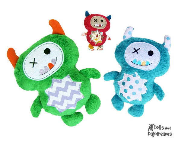 Embroidery Machine Monster ITH Pattern - Dolls And Daydreams - 1
