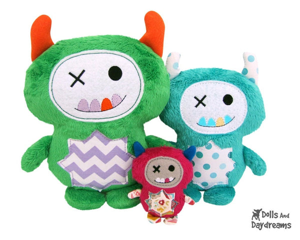 Embroidery Machine Monster ITH Pattern - Dolls And Daydreams - 3