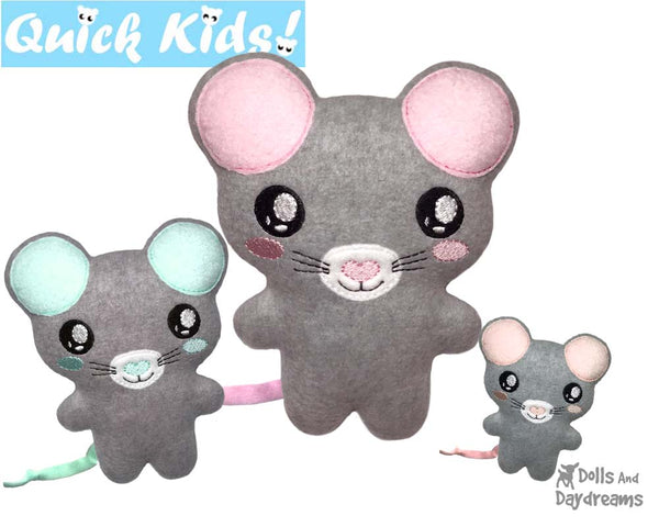 ITH Quick Kids Mouse Pattern by Dolls And Daydreams