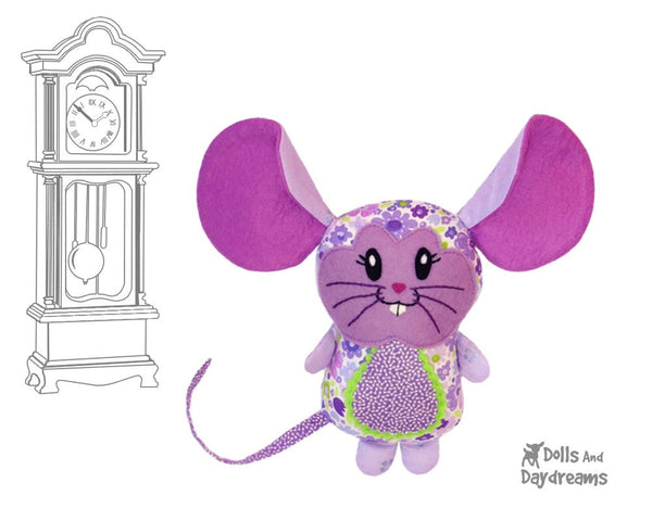 Mouse Sewing Pattern - Dolls And Daydreams - 1