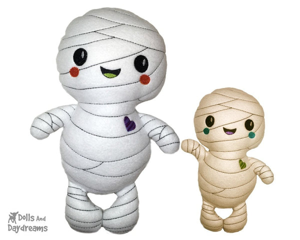 Embroidery Machine Mummy Pattern - Dolls And Daydreams - 1