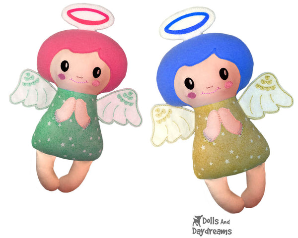 ITH Christmas Embroidery Machine Angelic Angel Pattern In the hoop DIY cloth doll Dolls And Daydreams