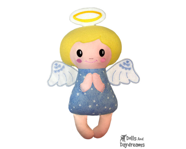 Embroidery Machine Angelic Angel Pattern - In the hoop DIY cloth doll Dolls And Daydreams - 1