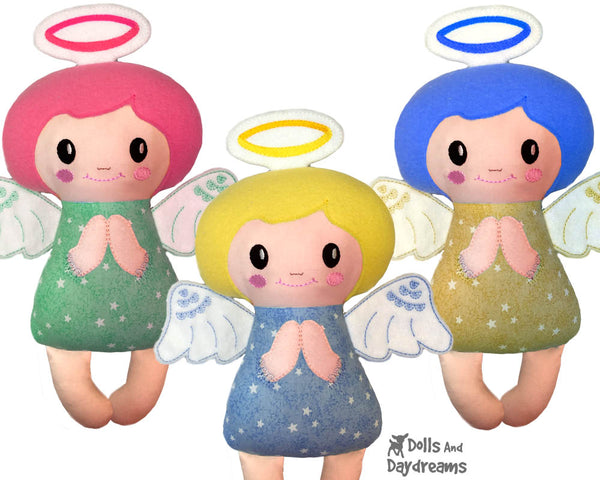 ITH Christmas Machine Embroidery  Angelic Angel Pattern DIY cloth doll by Dolls And Daydreams