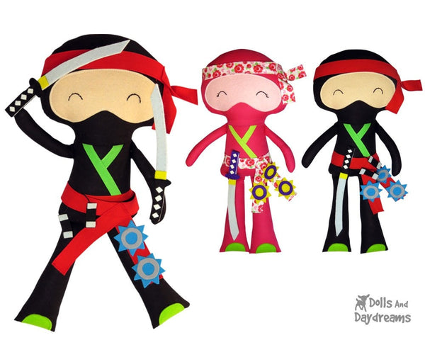 Ninja Sewing Pattern - Dolls And Daydreams - 3