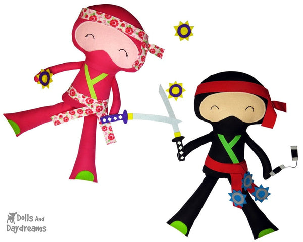 Ninja Sewing Pattern - Dolls And Daydreams - 4