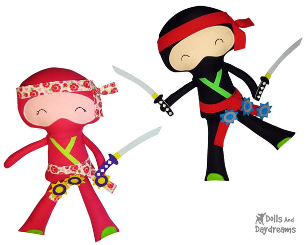 Ninja Sewing Pattern - Dolls And Daydreams - 2