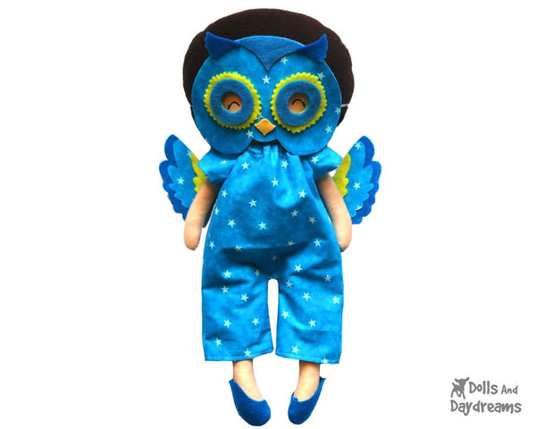 Owl Mask & Wing Pattern - Dolls And Daydreams - 1
