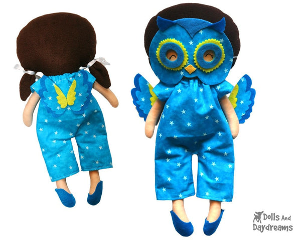 Owl Mask & Wing Pattern - Dolls And Daydreams - 4