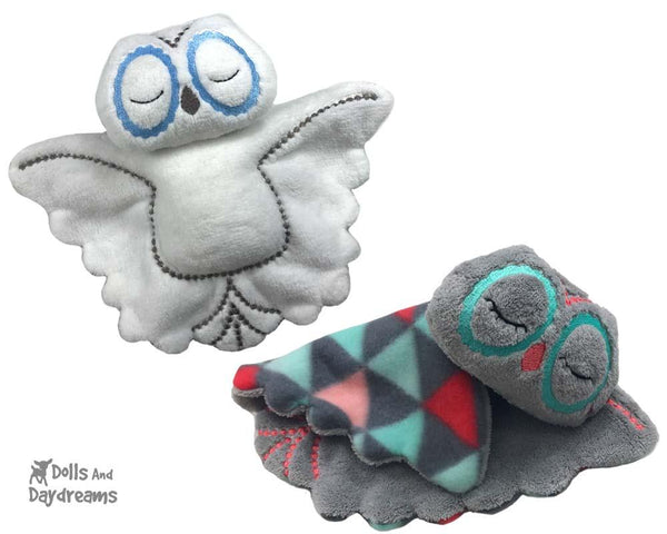 ITH Owl Pro Grow with Me Machine Embroidery Baby Blanket Pattern by Dolls And Daydreams