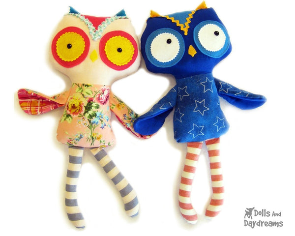 Owl Sewing Pattern - Dolls And Daydreams - 1
