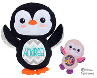 Embroidery Machine Penguin Pattern - Dolls And Daydreams - 1