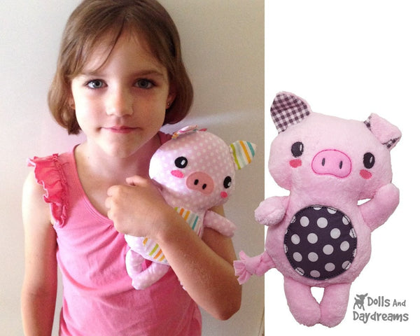Piglet Sewing Pattern - Dolls And Daydreams - 4