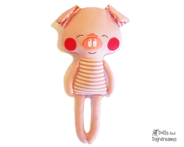 Pig Sewing Pattern - Dolls And Daydreams - 1