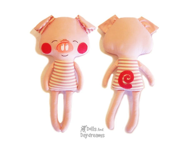 Pig Sewing Pattern - Dolls And Daydreams - 6