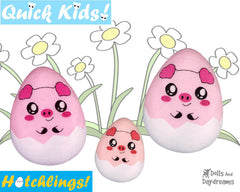 ITH Quick Kids Pig Hatchling Pattern