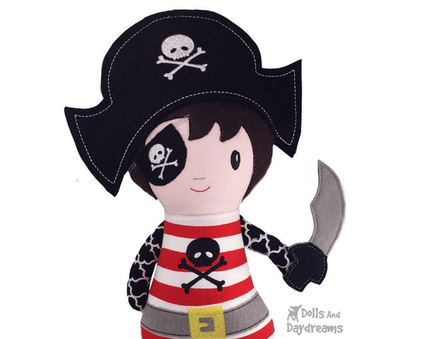 ITH Pirate Doll Pattern - Dolls And Daydreams - 5
