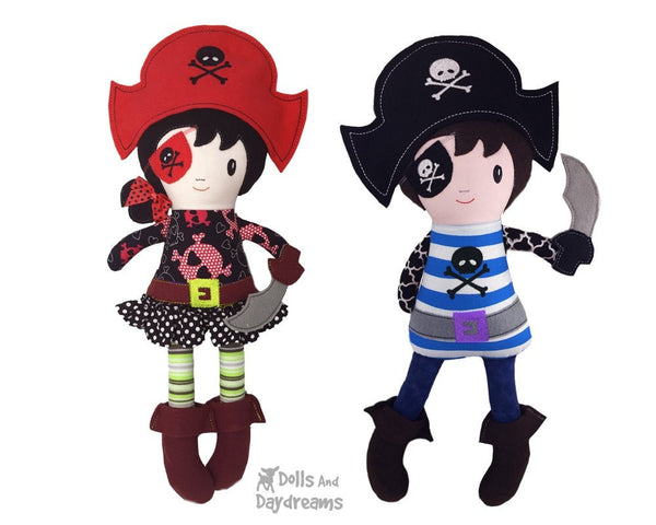 ITH Pirate Doll Pattern - Dolls And Daydreams - 3