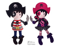 ITH Pirate Doll Pattern - Dolls And Daydreams - 1
