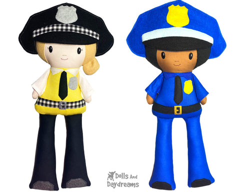 ith-police-officer-pattern machine embroidery cop doll diy by dolls and daydreams