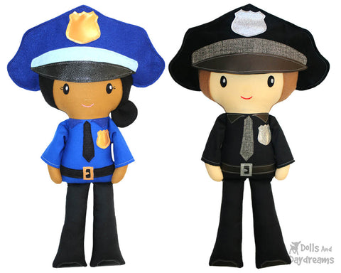police-officer-sewing-pattern cop diy cloth doll by dolls and daydreams