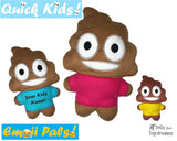 ITH Quick Kids Poo Emoji Doll Plush Pattern DIY Machine Embroidery In The Hoop Toy
