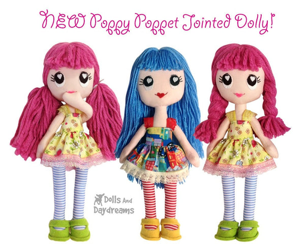 Poppy Poppet Sewing Pattern - Dolls And Daydreams - 6
